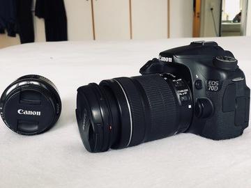 Lender: Lej et Canon 70d (med eller uden objektiver)