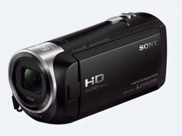 Udlejer: Sony CX405 Handycam® med Exmor R® CMOS-sensor