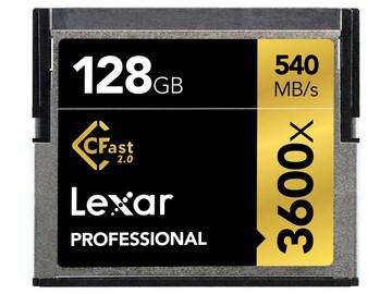Udlejer: Lexar 128GB 3600X Pro CFAST 540MB/s