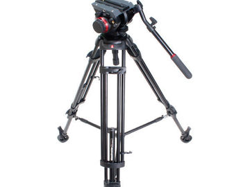 Udlejer: Manfrotto 546B Pro Video Tripod + 504HD Video Head