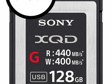 Udlejer: 3 x Sony Professional XQD G-Series 128GB Memory Cards