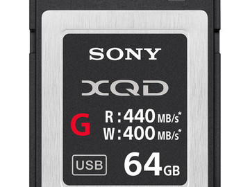 Lender: Sony 64GB XQD G Series Memory Card