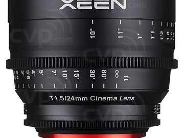 Udlejer: Samyang Xeen Cinema Lens/optik T1.5/ 24mm (Sony E)