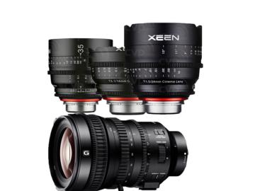 Udlejer: Cinema Optik-Pakke (Sony E Mount) 14, 24, 35 & 18-110mm