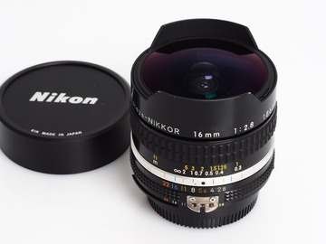 Udlejer: Lej Nikon Nikkor AIS 16mm fisheye f/2.8 with canon adapter