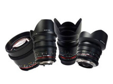 Udlejer: Samyang Objektiv Pakke - 8, 24, 35, 85mm f1.5