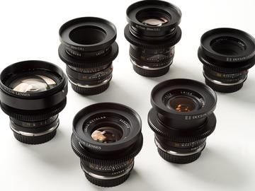 Udlejer: Leica R Objektiv Pakke - 19, 24, 35, 60, 80, 80-200mm