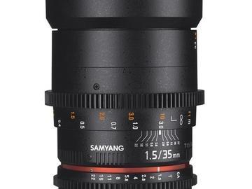 Lender: Samyang 35mm CINE T1,5 EF