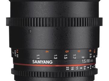 Lender: Samyang 85mm CINE T1,5 EF