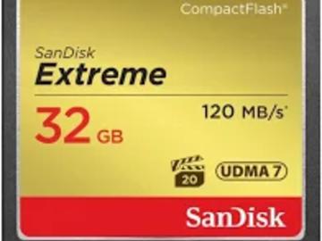 Udlejer: SanDisk 120MB/s 32GB (til Canon C300 / 7D)