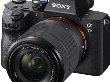 Udlejer: Sony A7 iii inkl. 28-70 (ekstra objektiver lejes også ud)