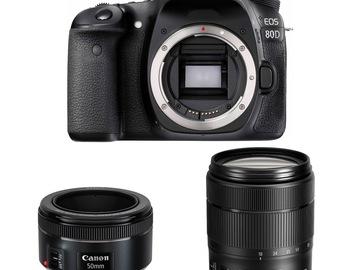 Udlejer: Canon 80D inklusiv 50 mm F1.8 og 18-15 mm F3.5-5.6