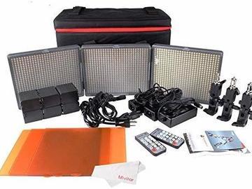 Udlejer: Aputure Amaran 672 kit + Softbox + Tilbehør