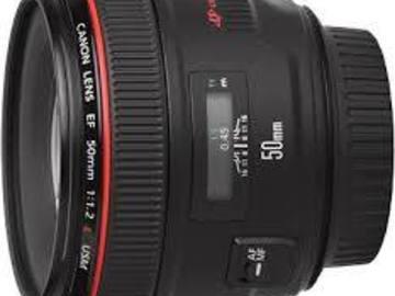 Udlejer: Canon EF 50mm f1,2 L usm Prime Lens
