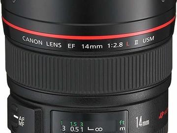 Udlejer: Canon EF 14mm f2,8 L II usm Prime Lens