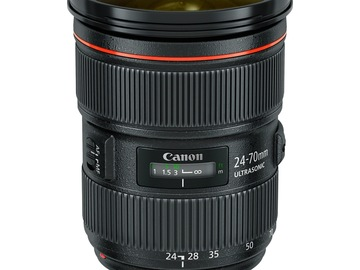 Udlejer: Canon EF 24-70mm f2,8 L II USM Zoom Lens