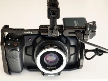 Udlejer: Blackmagic Pocket Cinema Camera 4k + Metabones Speedbooster