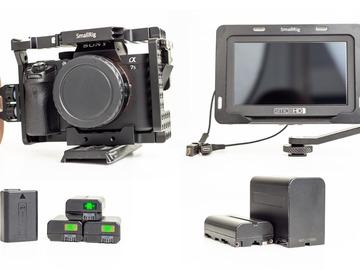 Udlejer: Sony a7sii Med Cage og handgrip Inkl. SmallHD Focus