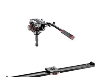 Udlejer: Manfrotto Slider 100 cm (MVS100A) inkl 504HD videohoved