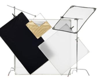 Udlejer: Chimera Panel Frame kit (48x72) white/black, 1/2 Diff & Full