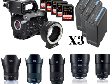 Udlejer: Sony FS7 Zeiss package (5 x 64GB cards, Metabone adapter)