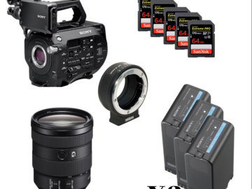 Udlejer: Sony FS7 Zoom package (5 x 64GB cards, Metabone adapter)