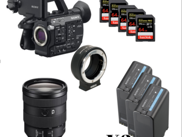Udlejer: Sony FS5 Zoom (3 x Batt, 5 x 64GB cards, Metabone adapter)