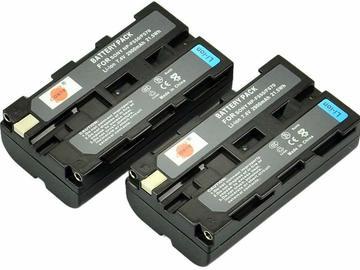 Udlejer: NP-F550 batteri x3 + 1 x dual oplader