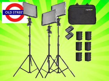 Udlejer: Complete LED 3 Point Lighting Kit: Aputure Amaran 528 (3-Lig