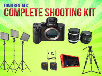 Udlejer: Complete Shooting Kit: Camera/Audio/Monitor/Lighting/Tripod