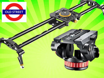 Udlejer: Carbon Fibre Slider + Manfrotto Fluid Head