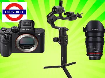Udlejer: A7Sii mk2 + Ronin S Gimbal + Cine Lens + Dual Grip Handle