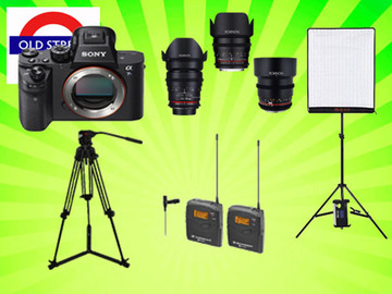 Udlejer: A7sii Shooting Kit Bundle - 4k Video/Audio/Lighting
