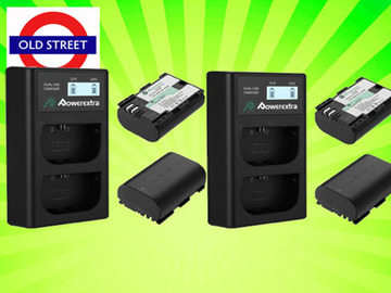 Udlejer: LP-E6 Batteries x 4 + Dual Charger x 2