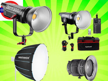 Udlejer: Aputure 300d + 120d Mark ii Full LED Lighting Kit