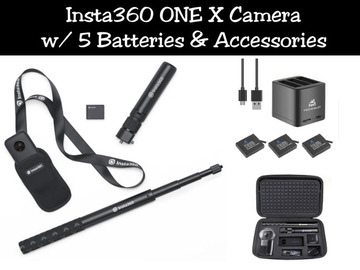 Lender: Insta360 ONE X Camera w/ 5 Batteries & Accessories