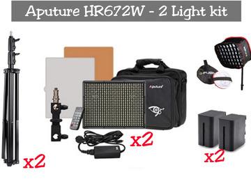 Lender: Aputure 672 | LED Video Panel - 2 Light Kit