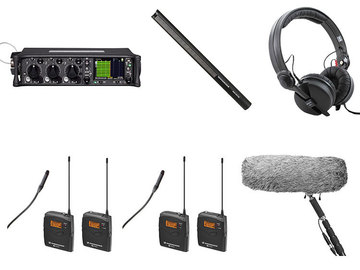Lender: Sound devices 633 met 2 zenders