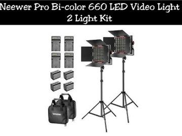 Lender: Neewer Pro Bi-color 660 LED Video Light | 2 Light Kit