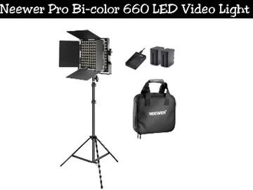 Lender: Neewer Pro Bi-color 660 LED Video Light kit