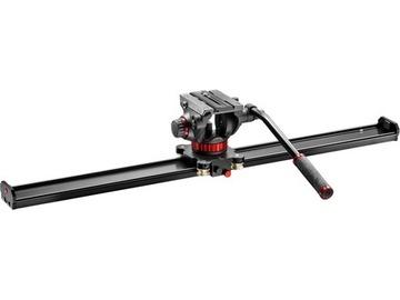 Udlejer: MANFROTTO 1 Meter Slider inkl. Head / Tilt og inkl. stativ
