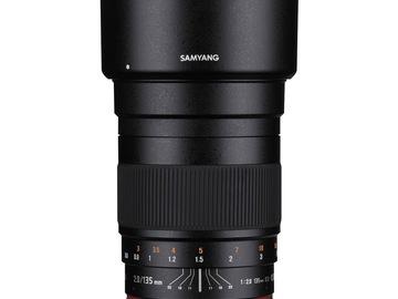 Lender: Samyang 135mm f/2.2 E-Mount