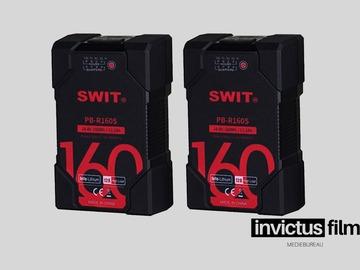 Lender: 2 stk. 160Wh SWIT PB-R160S Batteri, inkl. lader