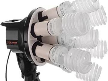 Raya Octa Fluorescent 7-Socket Fixture 2-Light Softbox