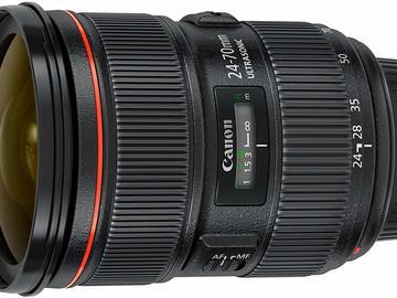 Lender: Canon EF 24-70mm f/2.8L USM Standard Zoom Lens