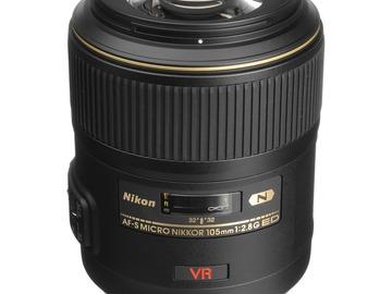 Lender: Nikon AF-S VR Micro-NIKKOR 105mm f/2.8G IF-ED Lens