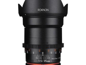Lender: Rokinon 35mm T1.5 Cine DS Lens