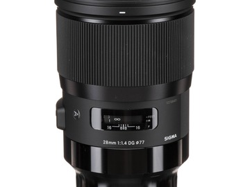 Lender: Sigma 28mm F1.4 DG HSM Art