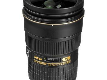 Lender: Nikon AF-S NIKKOR 24-70mm f/2.8G ED Lens