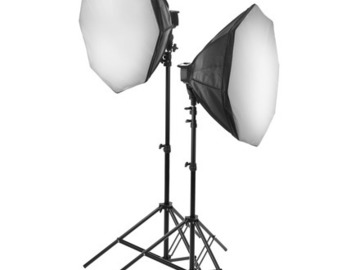 Lender: Raya Octa Fluorescent 7-Socket Fixture 2-Light Softbox